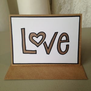 'Love' gold card