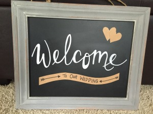 'Welcome To Our Wedding' with 'To Our Home' replacement banner